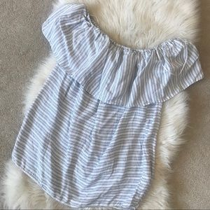 🌞4/$35 Striped modern off shoulder Flowy top